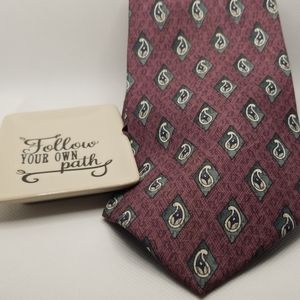 Stafford 100% Silk Burgundy Men's Tie